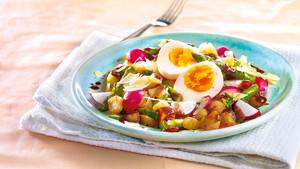 Röstkartoffelsalat mit Ei