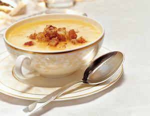 Fränkische Mostsuppe mit Zimtcroutons