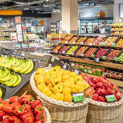 Obstabteilung tegut Markt Heidelberg Rheinstraße