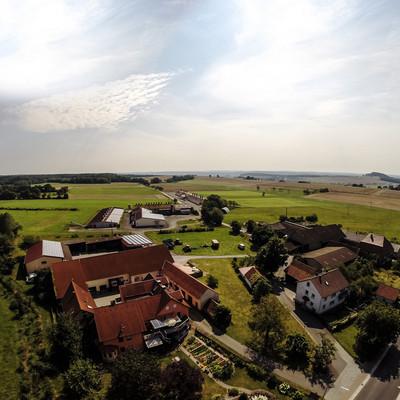 Luftaufnahme des Voglers Hof