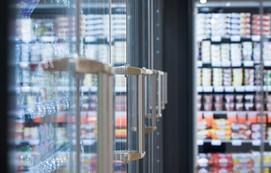 Türen der Kühlmöbel im tegut Markt Göttingen