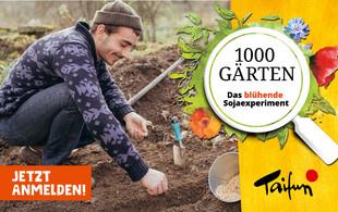 Taifun 1000 Gärten-Aktion