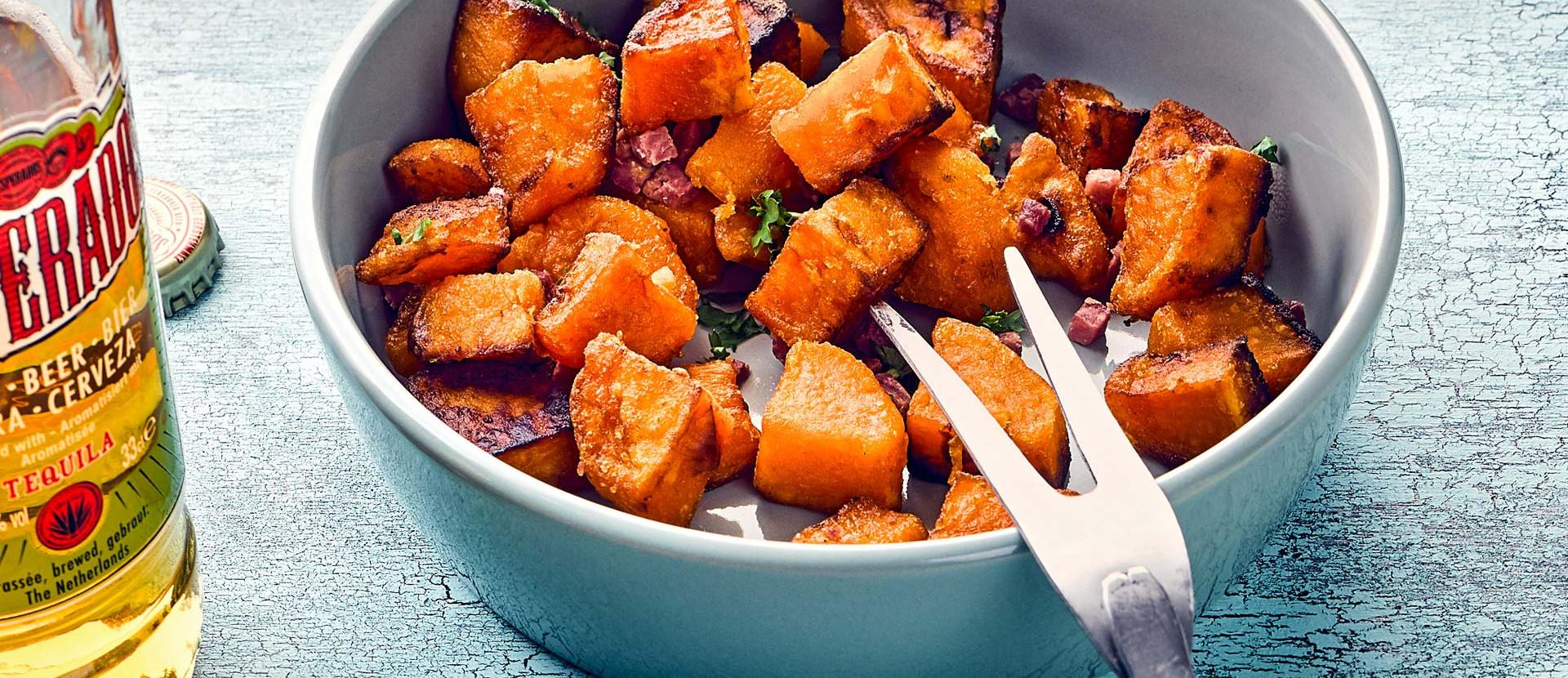 Bratkartoffeln aus Sueszkartoffeln