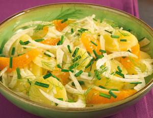 Kartoffel-Fenchel-Salat mit Orangenfilets