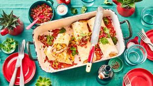 Hähnchen-Burritos mit Pico de Gallo
