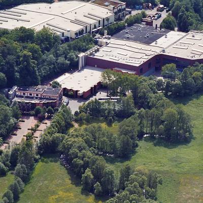 Luftaufnahme der Mineralbrunnen Rhönsprudel