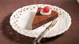 Schokoladentarte mit Vanillesahne