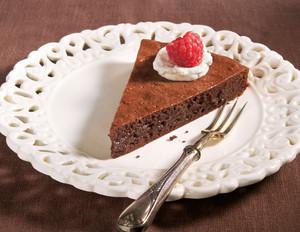 Französische Schokoladentarte mit Vanillesahne