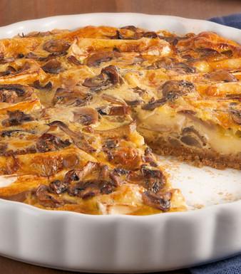 Pilz Quiche mit Camembert