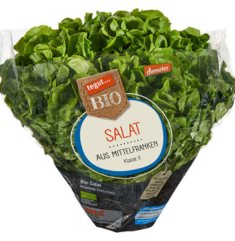 tegut Bio Salat vom demeter-Hof Maier