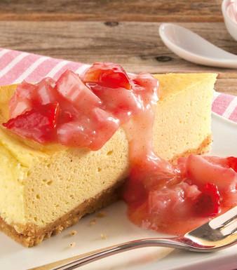 Cheesecake Rharbarber Erdbeer