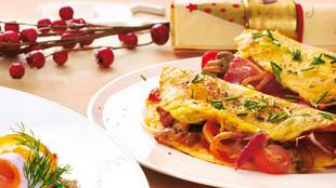 Omelette de luxe mit Bio-Bauernschinken