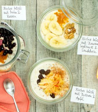 Bircher-Müsli – ein Brei, dreimal Frühstück