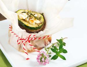 Auberginentürmchen mit Zucchini