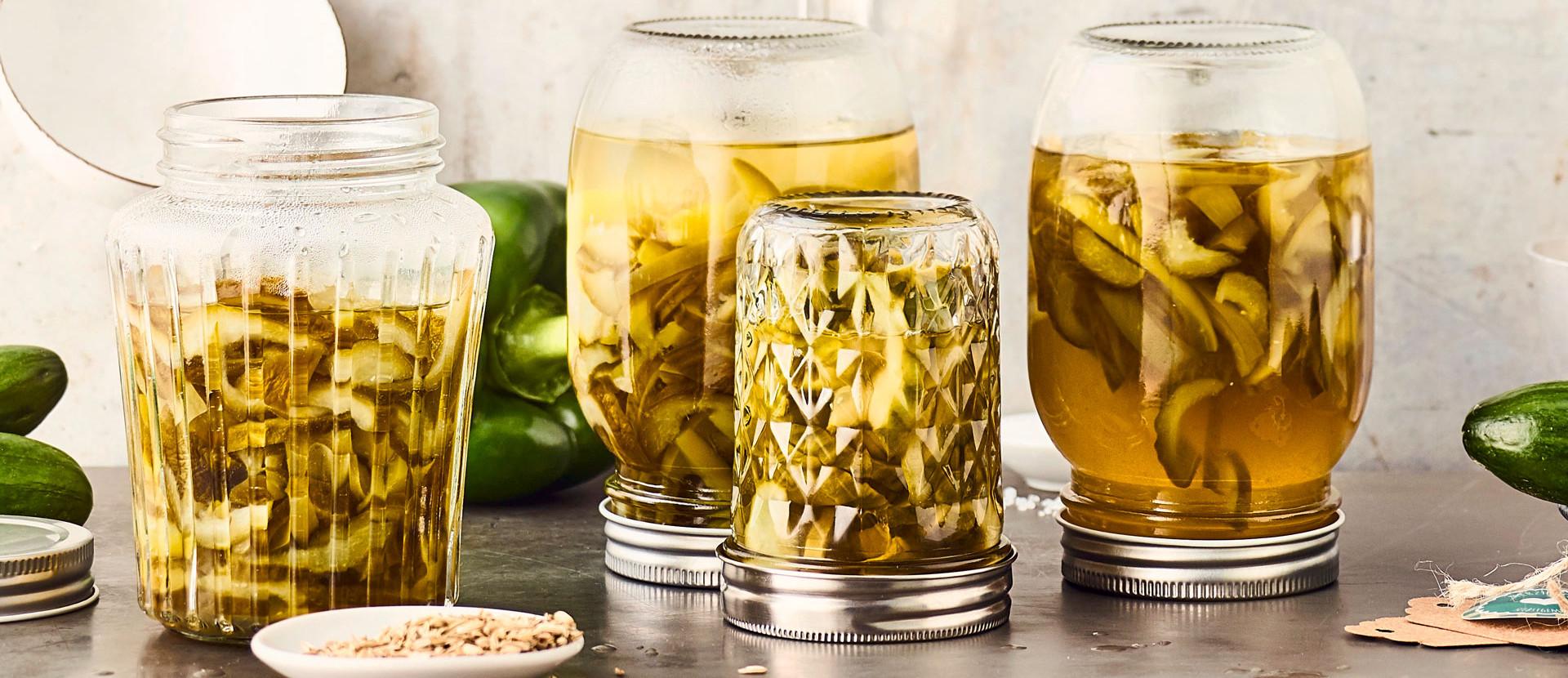 Grüne Sandwich-Pickles
