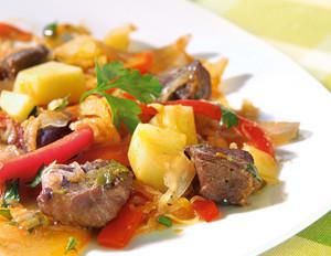 Sauerkraut-Paprika-Gulasch