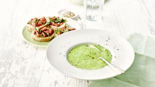 Bärlauch Suppe Teller
