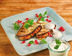 Auberginen-Sandwich mit Granatapfel