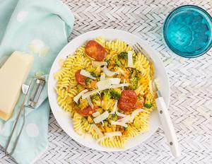 Pasta mit Chorizo und Brokkoli