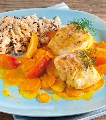 Fischfilets in Aprikosen Curry