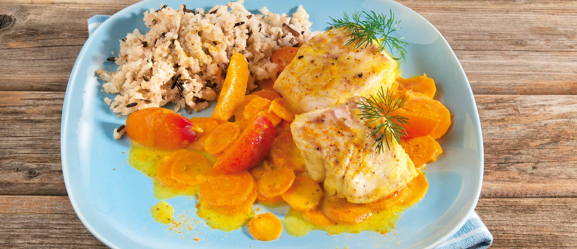 Fischfilets in Aprikosen Curry