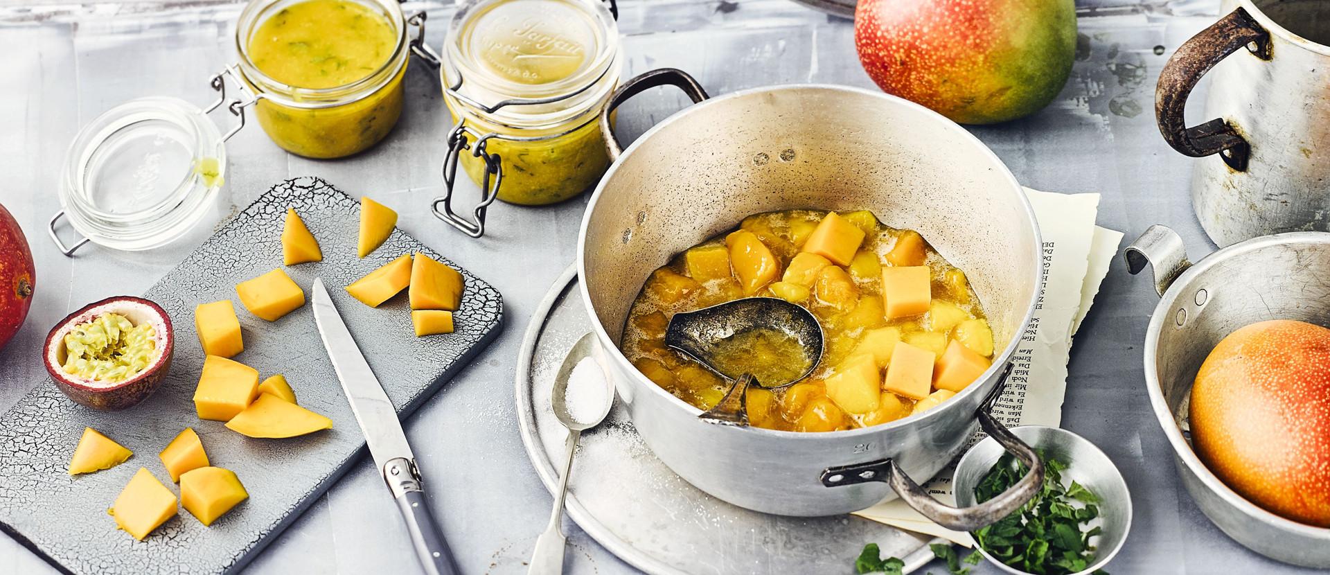 Mango Passionsfrucht Konfituere