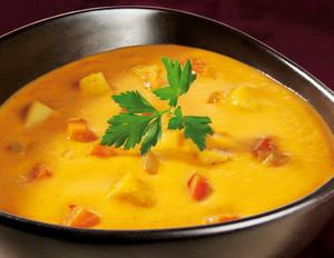 Möhren-Kokos-Curry-Suppe
