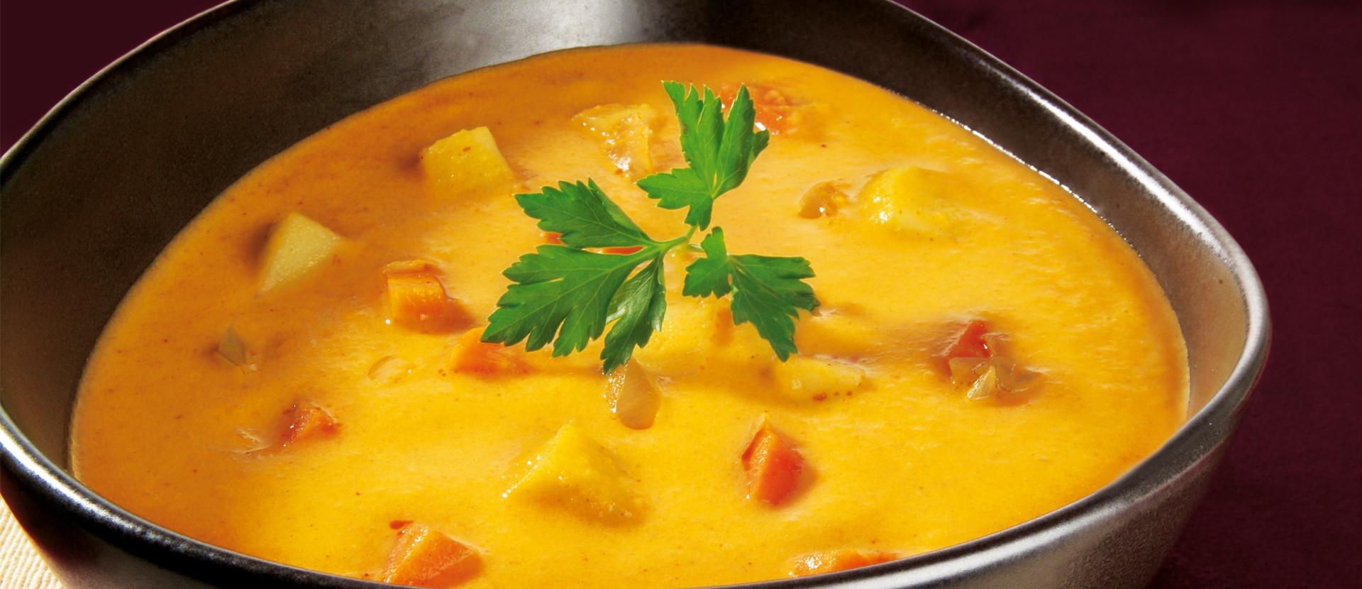 Moehren Kokos Curry Suppe