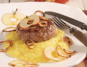 Kürbis-Kartoffelpüree zu Frikadellen