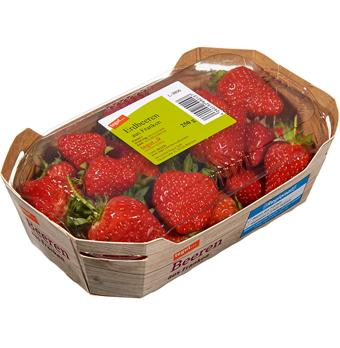ein Pack Erdbeeren