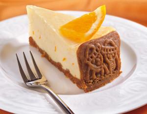Spekulatius-Käsekuchen mit Orange