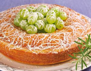 Zitronen-Rosmarin-Kuchen mit Schoko-Trauben