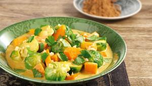Rosenkohl Suesskartoffel Curry