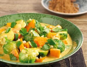 Rosenkohl-Süßkartoffel-Curry