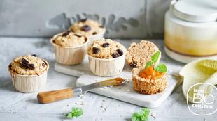 Muffins mit Sandorn Aufstrich