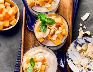Seidentofu-Dessert