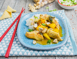 Putencurry mit Mango