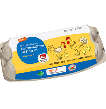 10 frische Eier