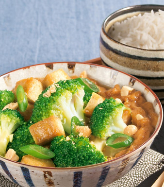 Brokkoli Erdnusssauce Tofu
