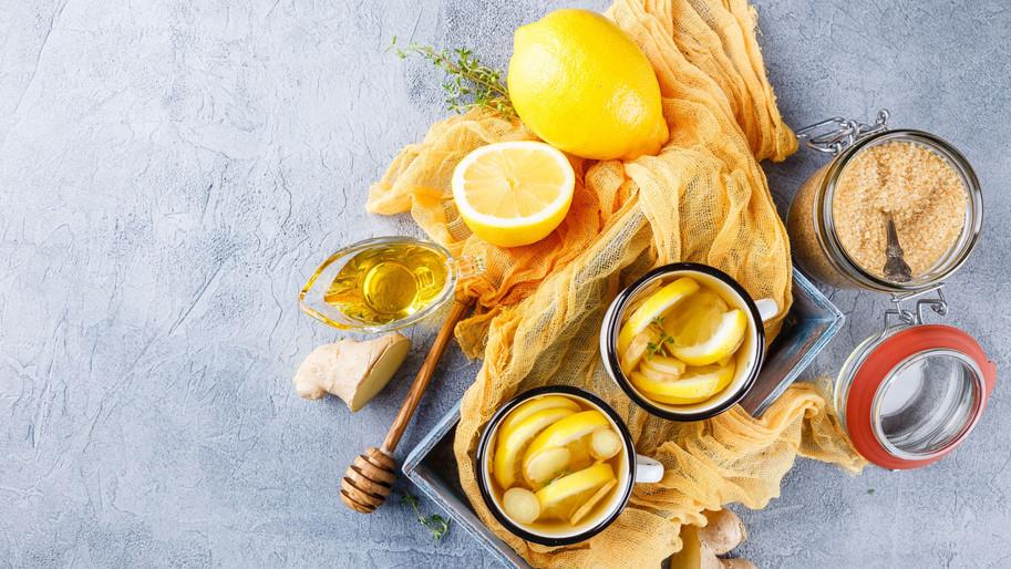 Zitronen, Honig und Ingwer