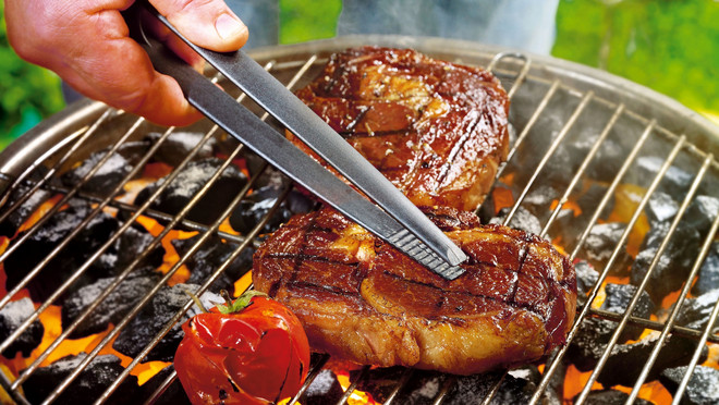 Rindfleisch auf Grill