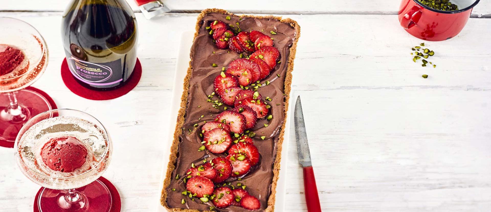 Erdbeeren Schoko Kuchen
