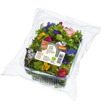 Salat-Mix mit Blüten