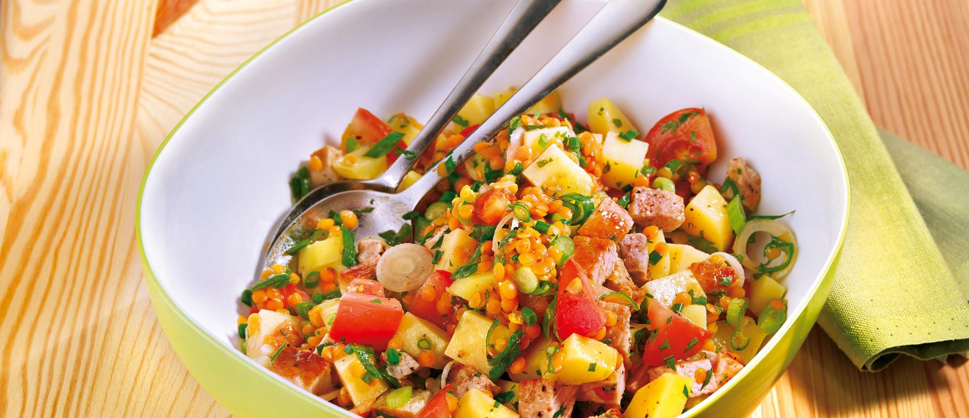 Linsen-Kartoffel-Salat