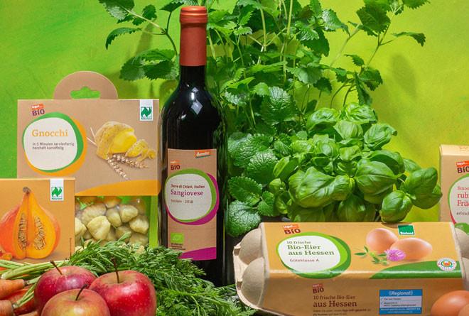 Bio Siegel verschiedene tegut Bio Produkte