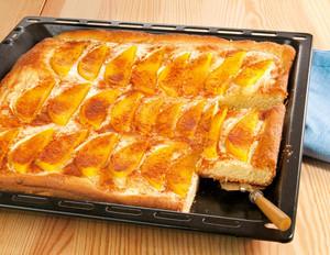 Mango-Rahmkuchen vom Blech