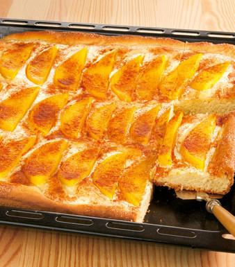 Mango Rahmkuchen vom Blech