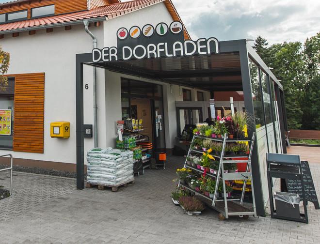 Eingang tegut... Lädchen Schönstadt