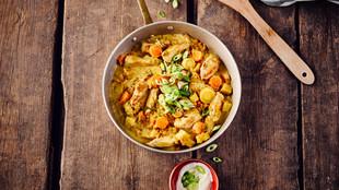 Gemüsecurry mit Pute und Linsen
