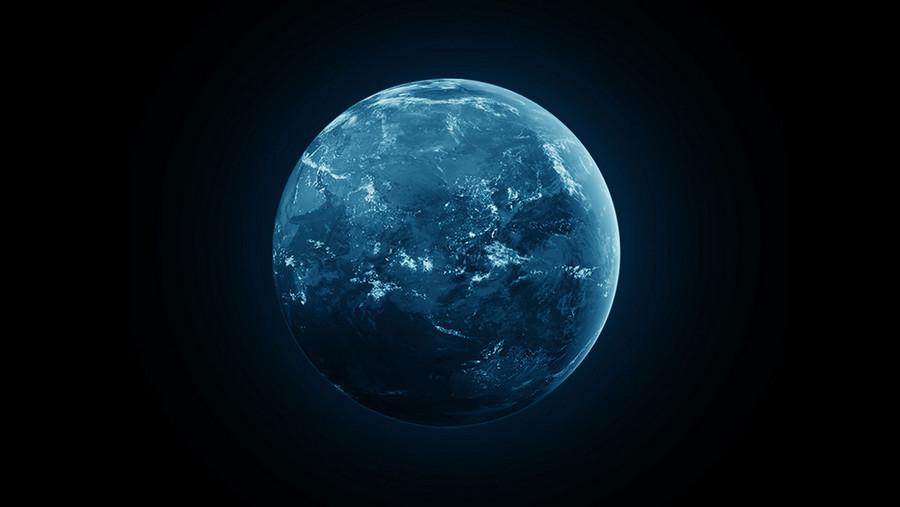Weltkugel auf schwarzem Hintergrund